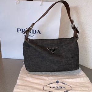 0160a1eca6a776 Authentic Prada denim hobo bag purse satchel cappa